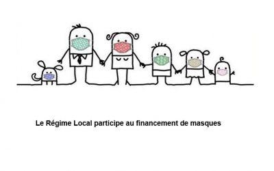 Le Régime Local participe au financement de masques